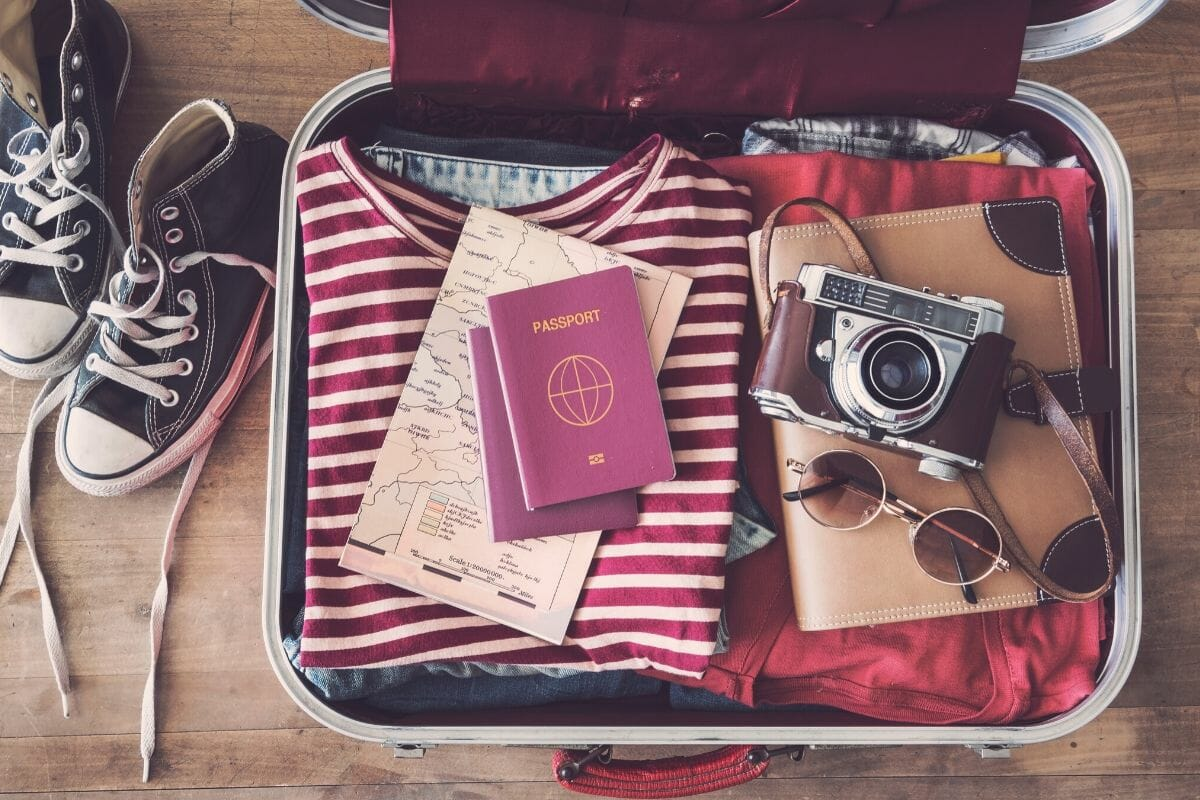Suitcase full of carry-on essentials that you should never travel without
