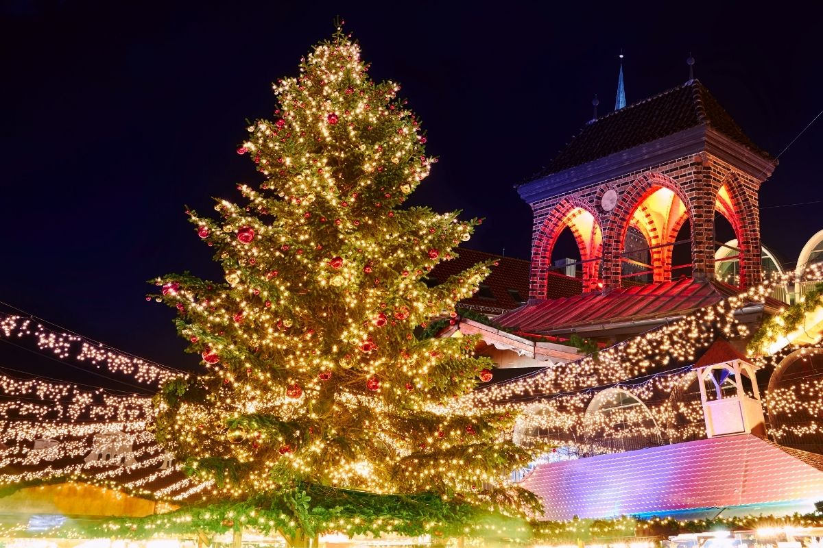 Christmas market in Lubeck, Germany