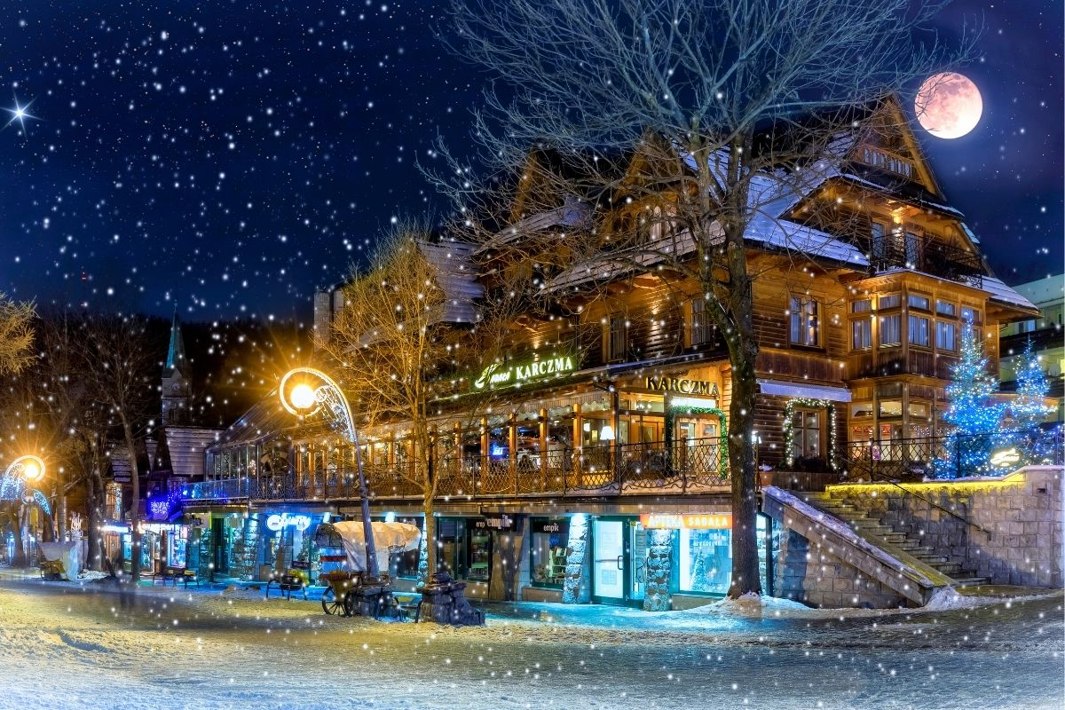 Christmas time in Zakopane, Poland
