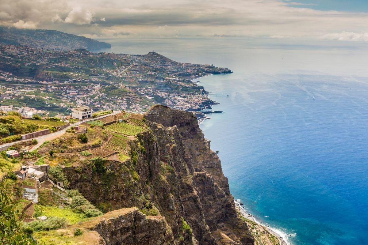 Cliffs of Gabo Girao in Madeira, Portugal
