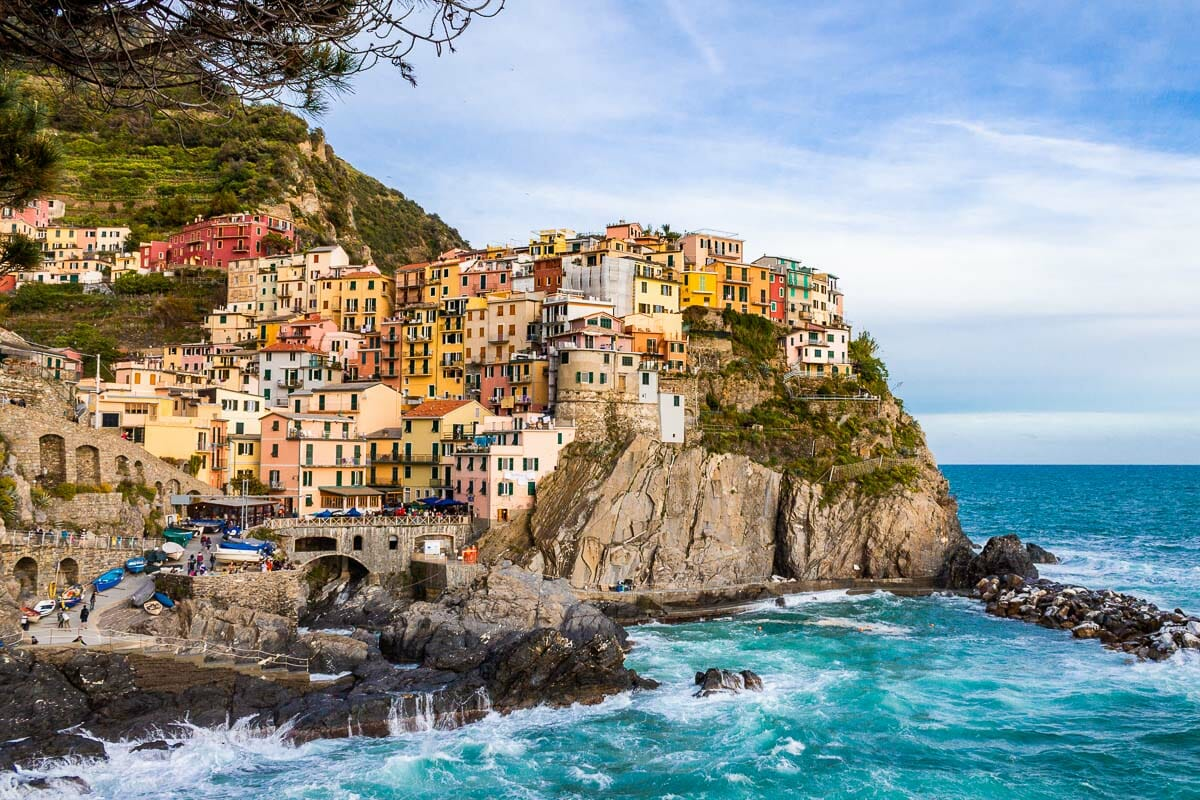 Colorful houses in Manarola, Cinque Terre, Italy