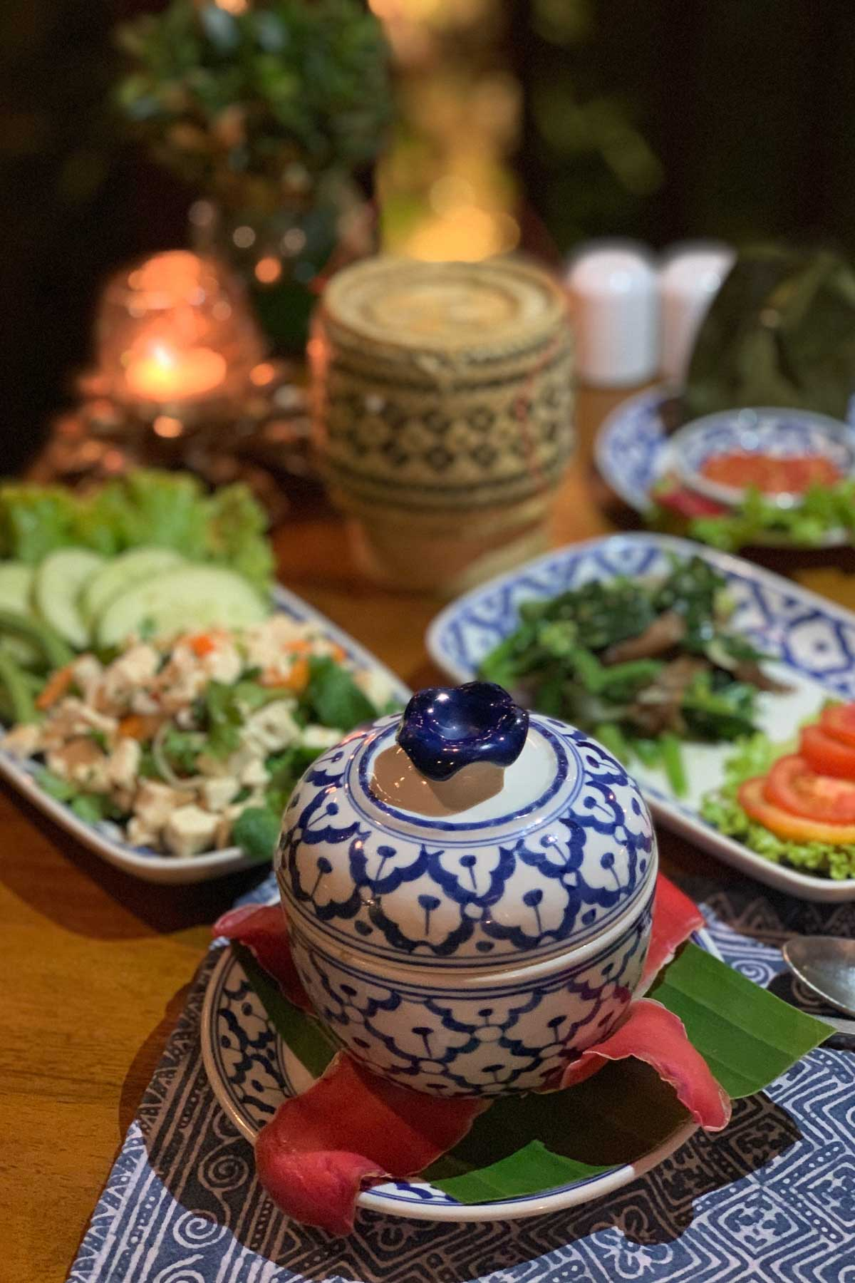 Dinner at Riverside Boutique Resort Vang Vieng