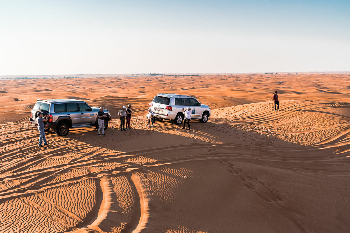 Jeep tour in the Dubai Desert