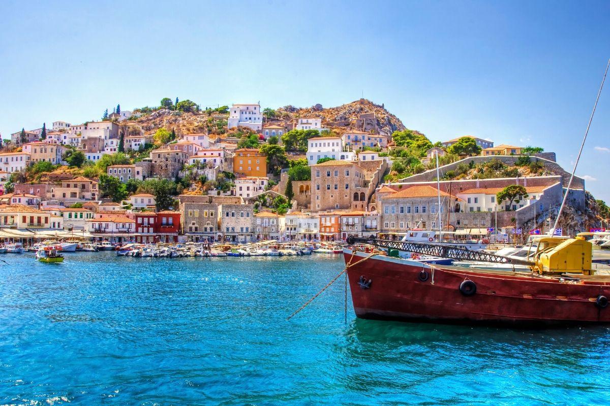 Fishing boat near the island of Hydra, Greece