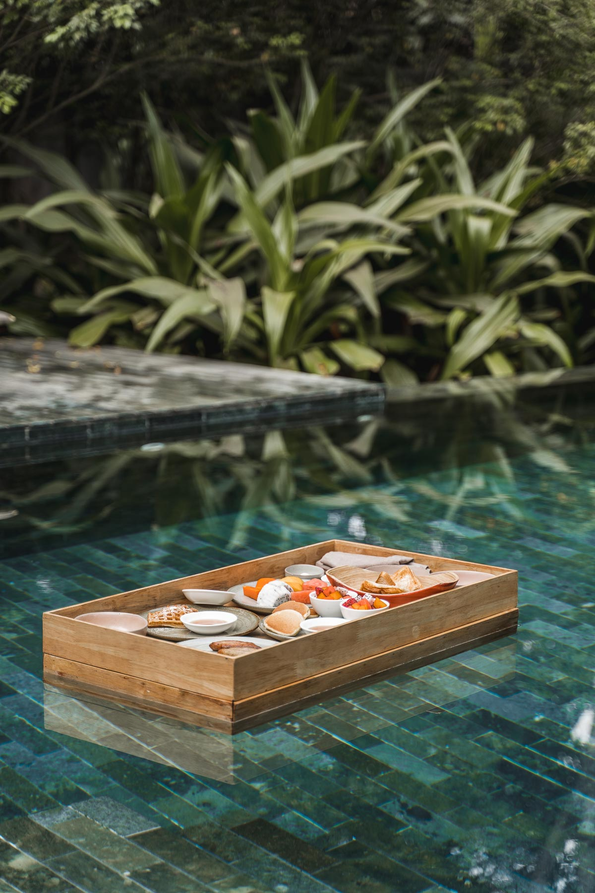 Floating breakfast at Templation Siem Reap