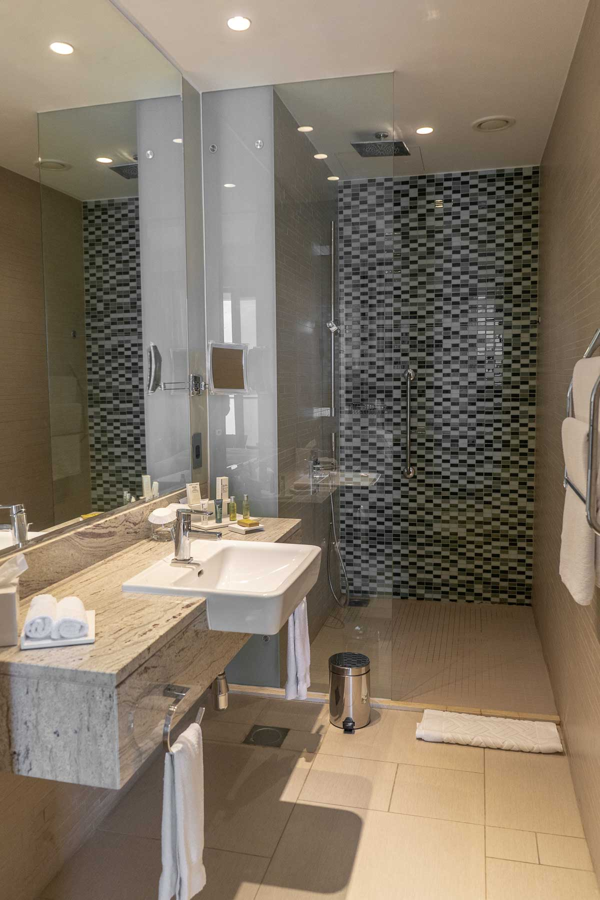 Bathroom at the Hilton Dead Sea Resort & Spa in Jordan