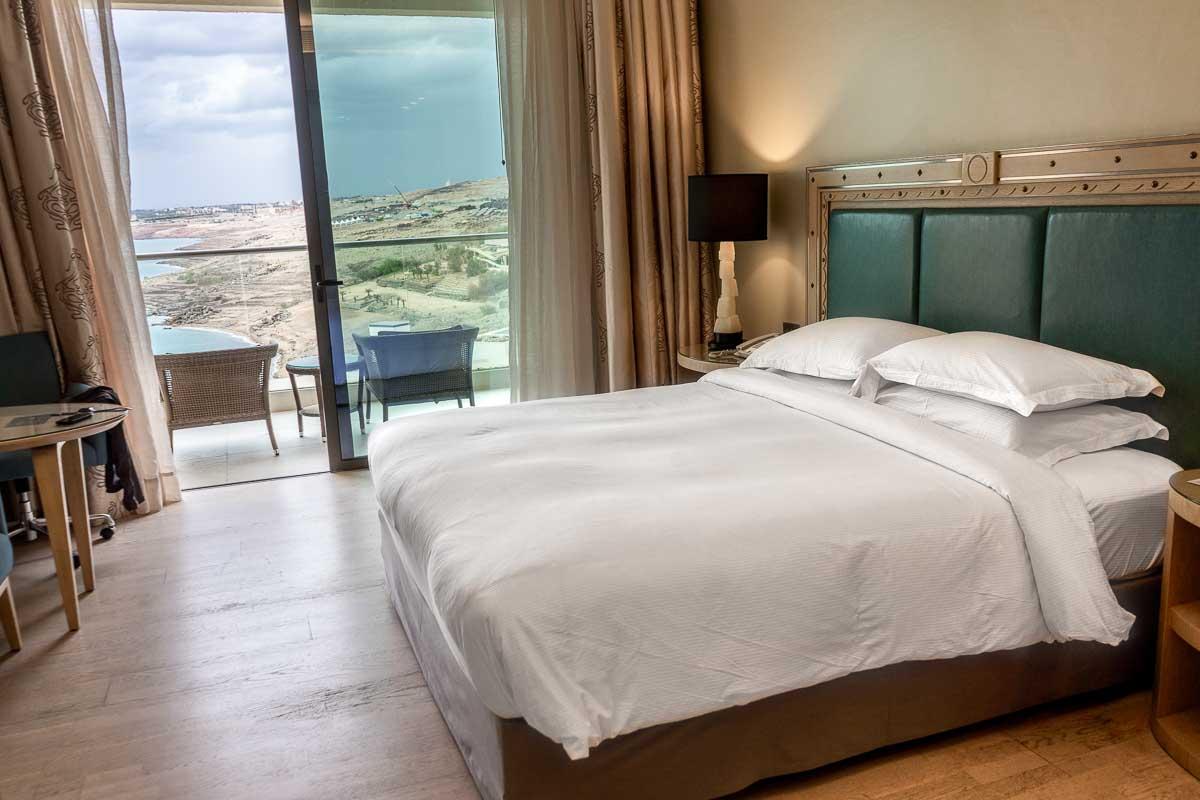 Bedroom at the Hilton Dead Sea Resort & Spa in Jordan