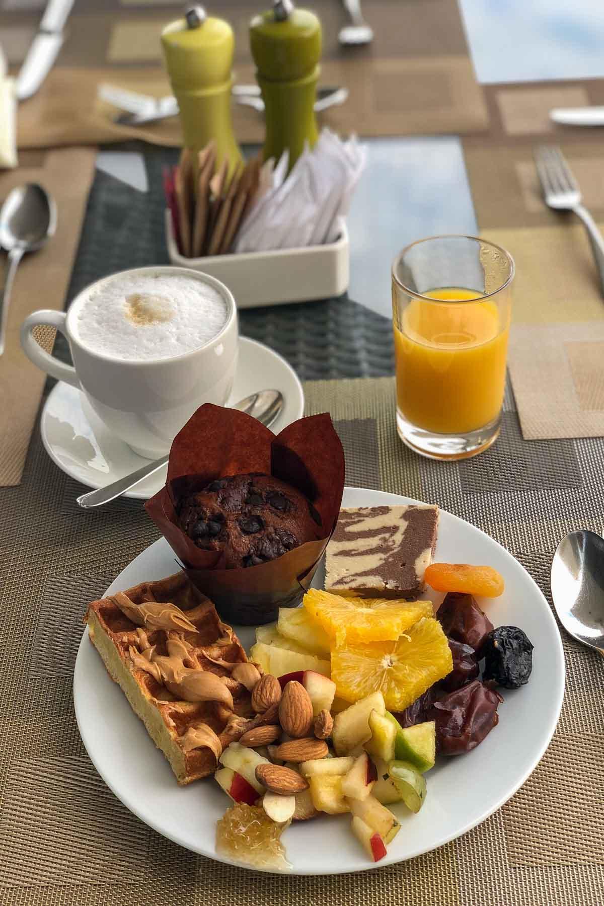 Breakfast at the Hilton Dead Sea Resort & Spa