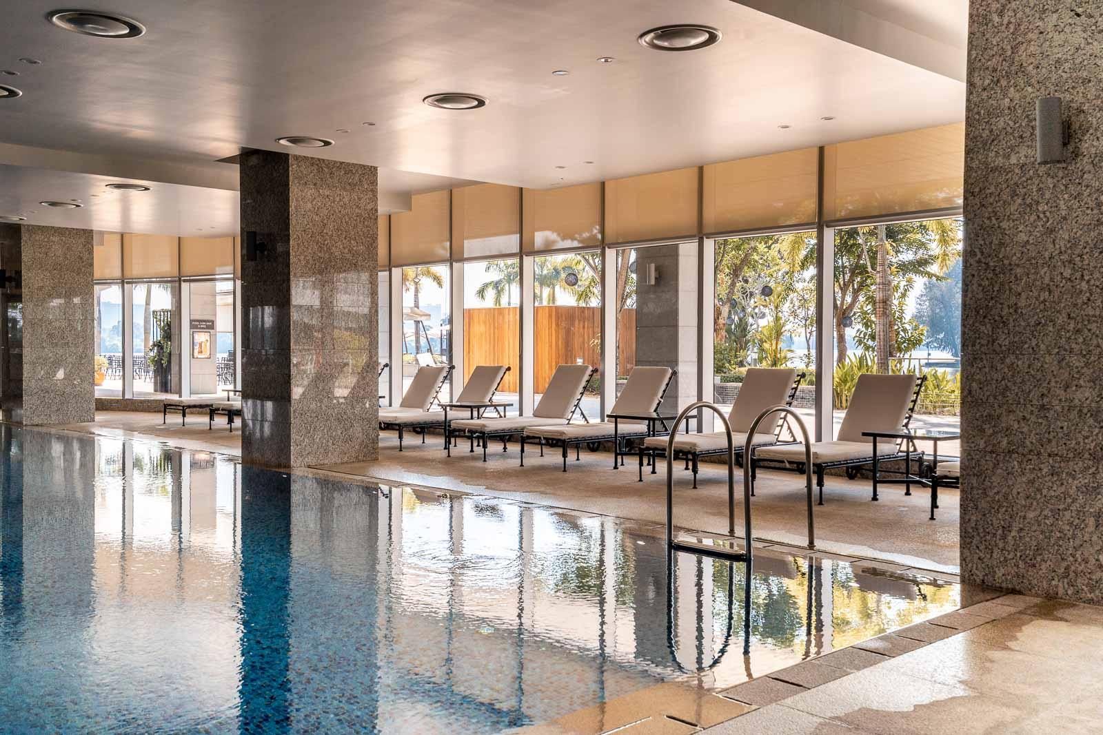 Indoor pool at Lotte Hotel Yangon