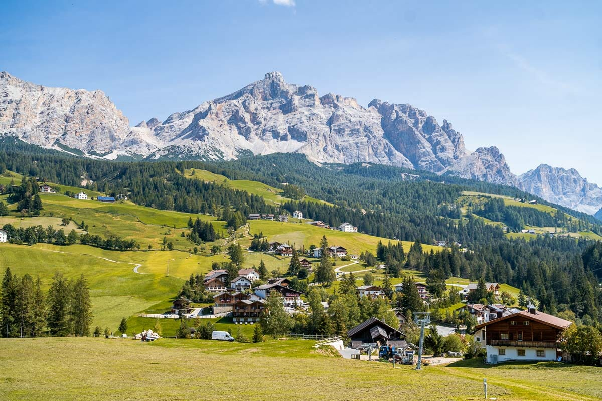 Panoramic view from La Villa/Stern in the Dolomites