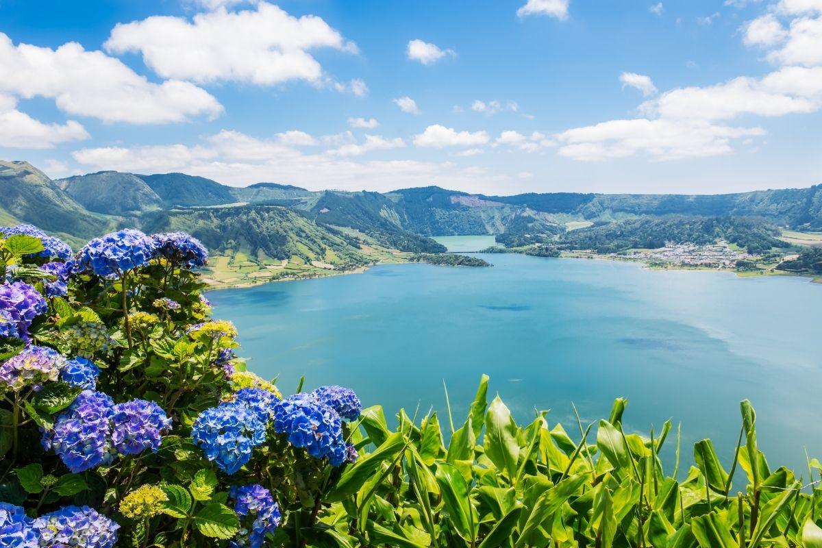 Lake of Sete Codades in Azores, Portugal