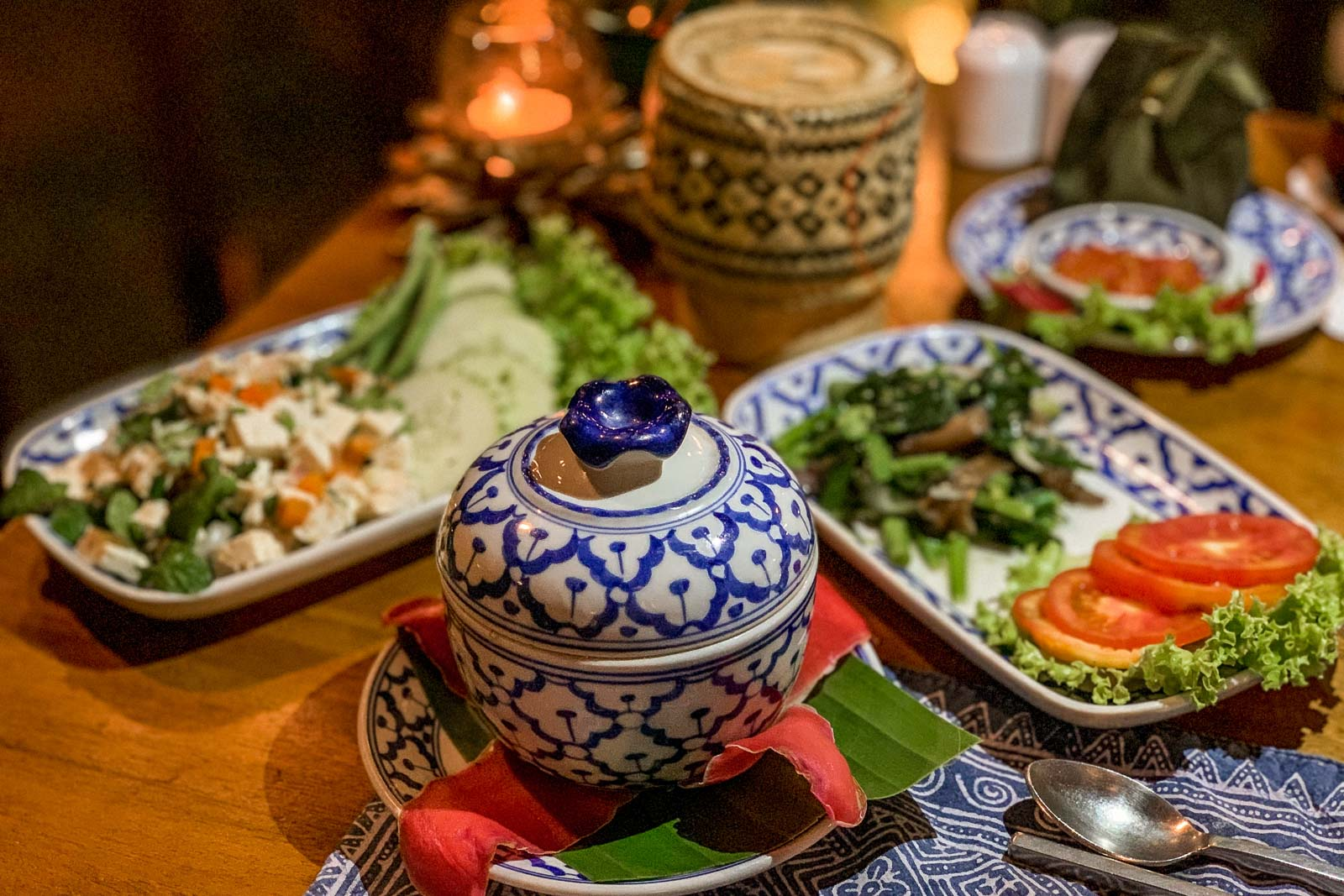 Laotian dishes in Vang Vieng