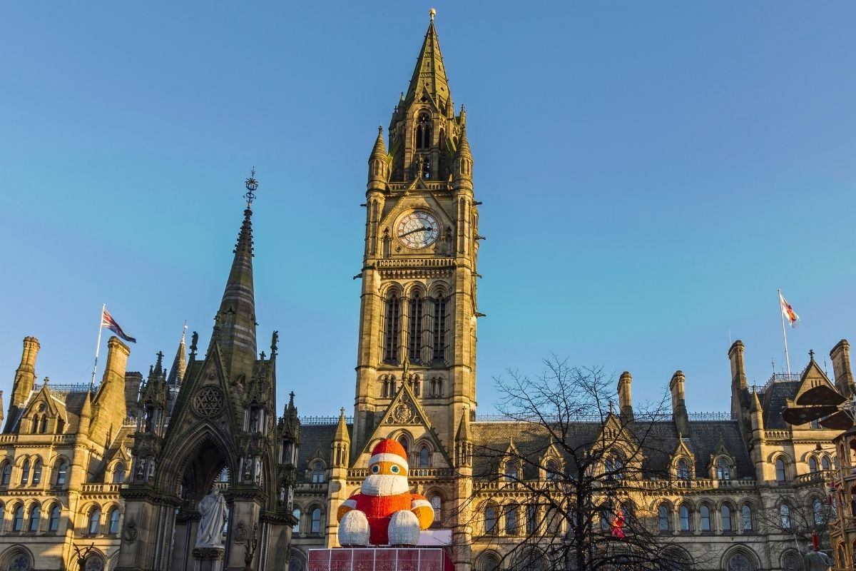 Manchester Cathedral at Christmas