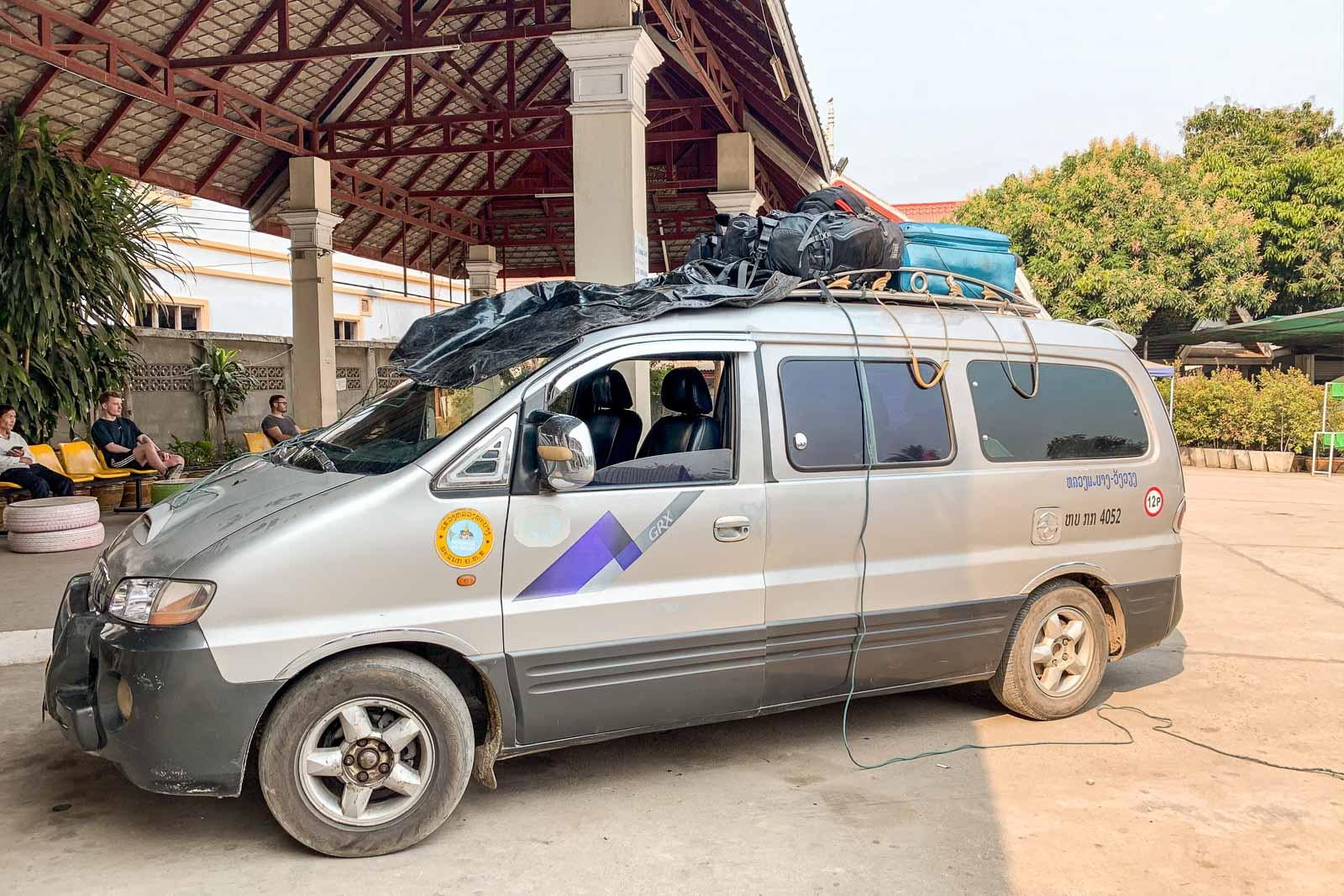 Traveling with a minivan from Luang Prabang to Vang Vieng