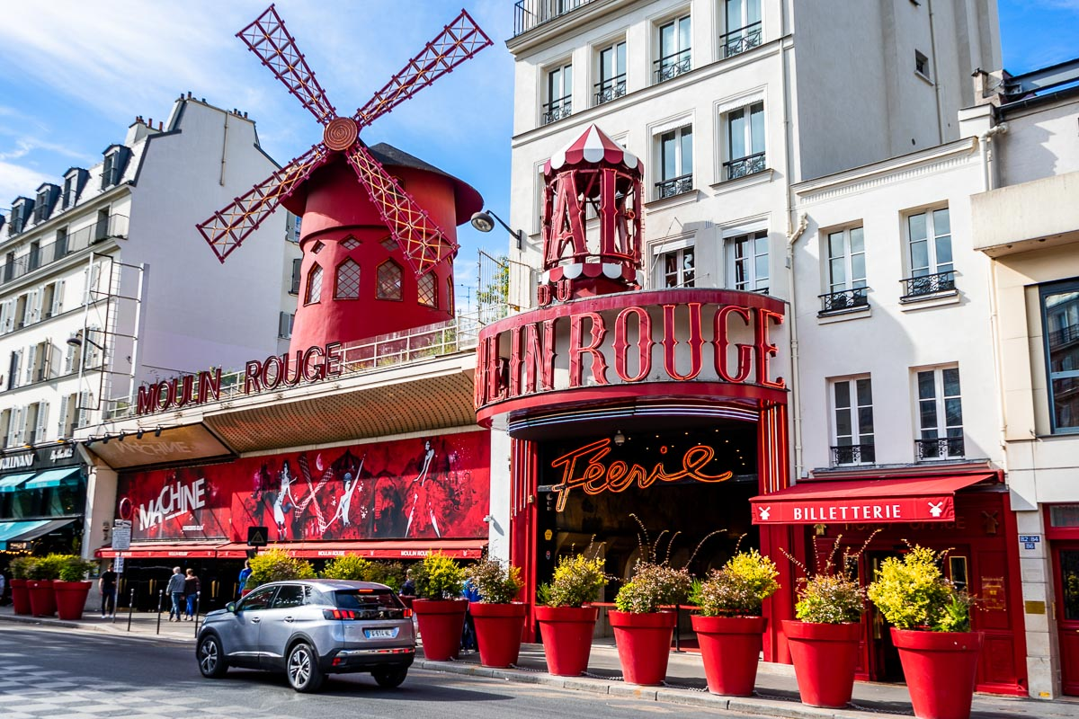 The entrance of Moulin Rouge in Paris