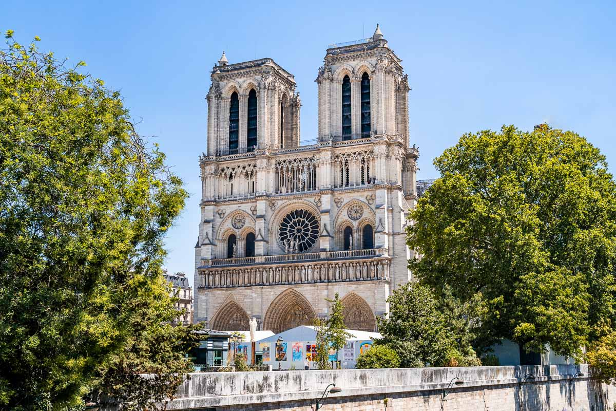 The famous Notre Dame Cathedral in Paris, France