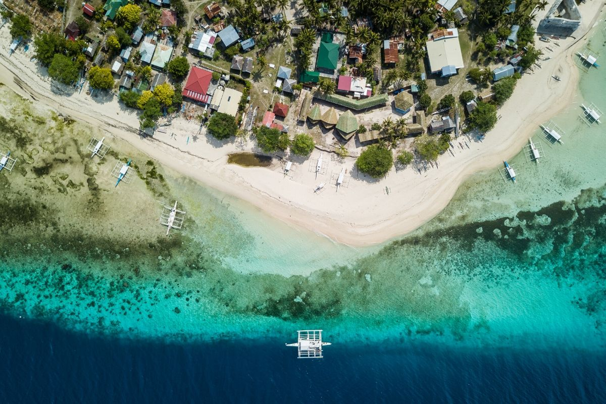 Aerial view of Pamilacan Island, Philippines