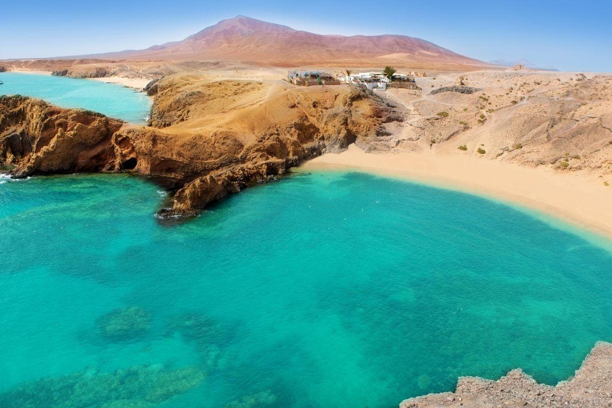Papagayo Beach in Lanzarote, Spain