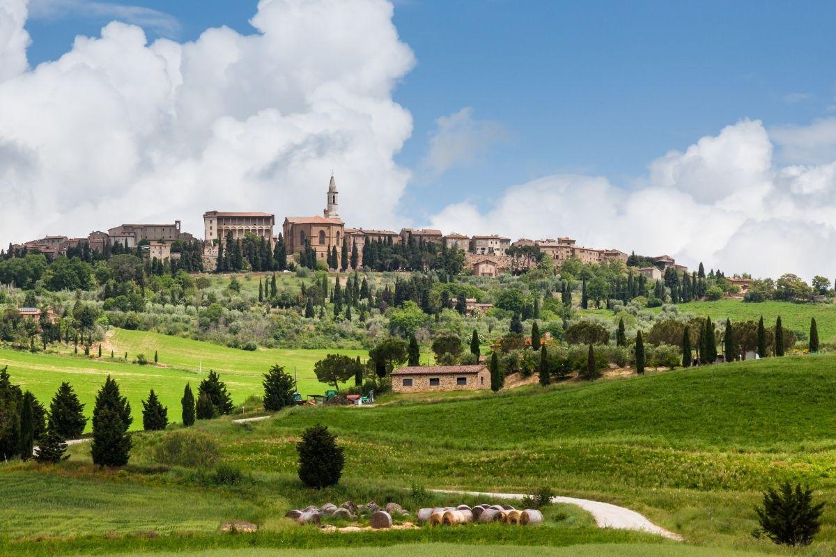 Panoramic view of Pienza, Italy
