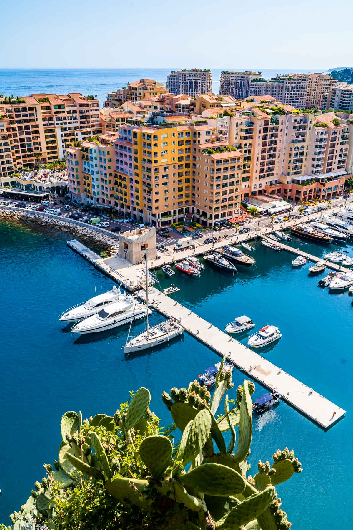 Port de Fontvieille Viewpoint in Monaco