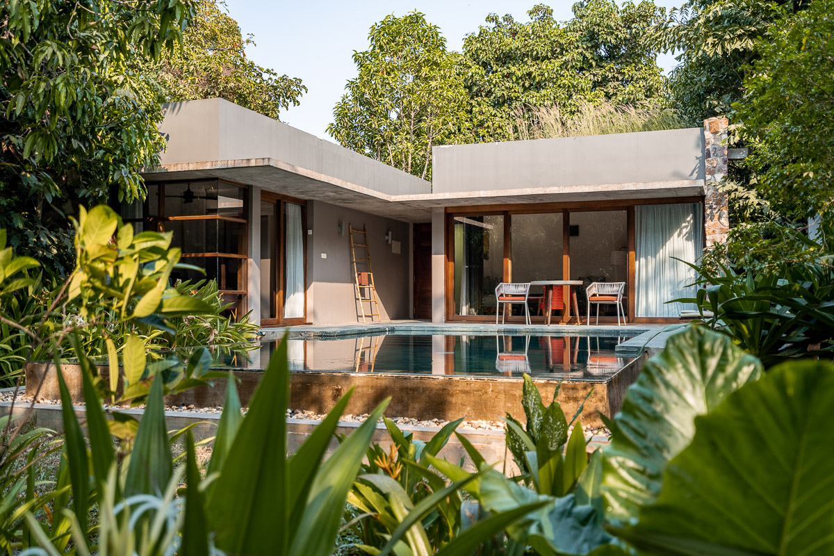 Private pool villa at Templation Siem Reap