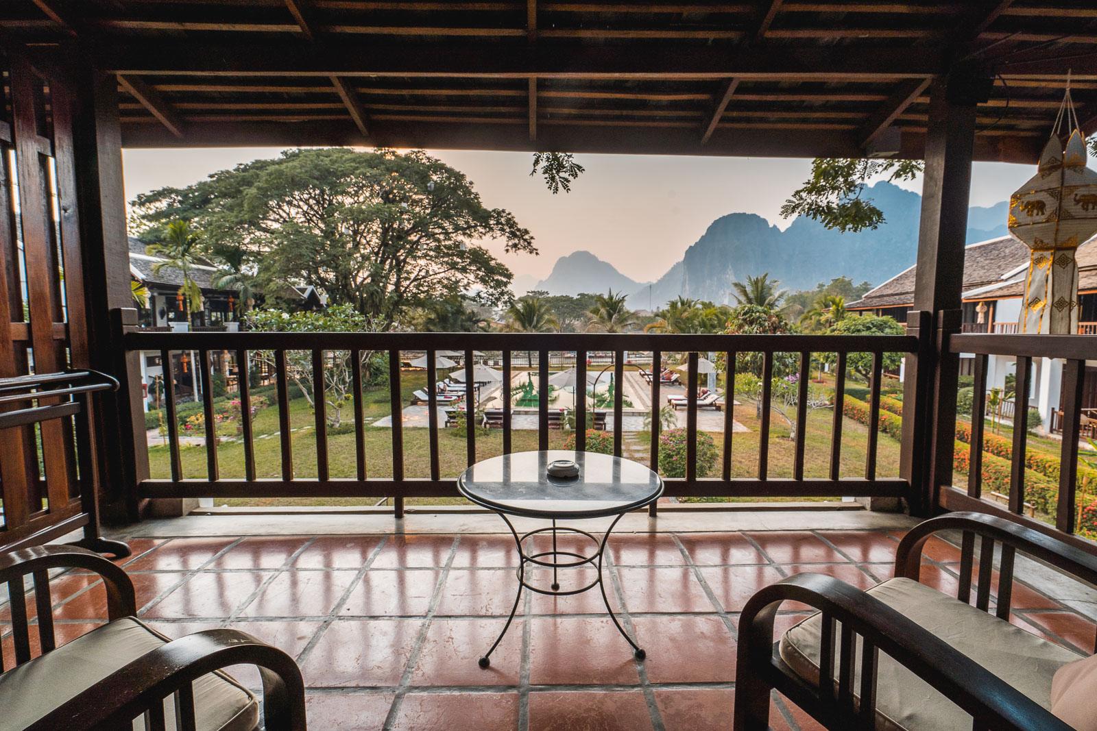Terrace at Riverside Boutique Resort Vang Vieng