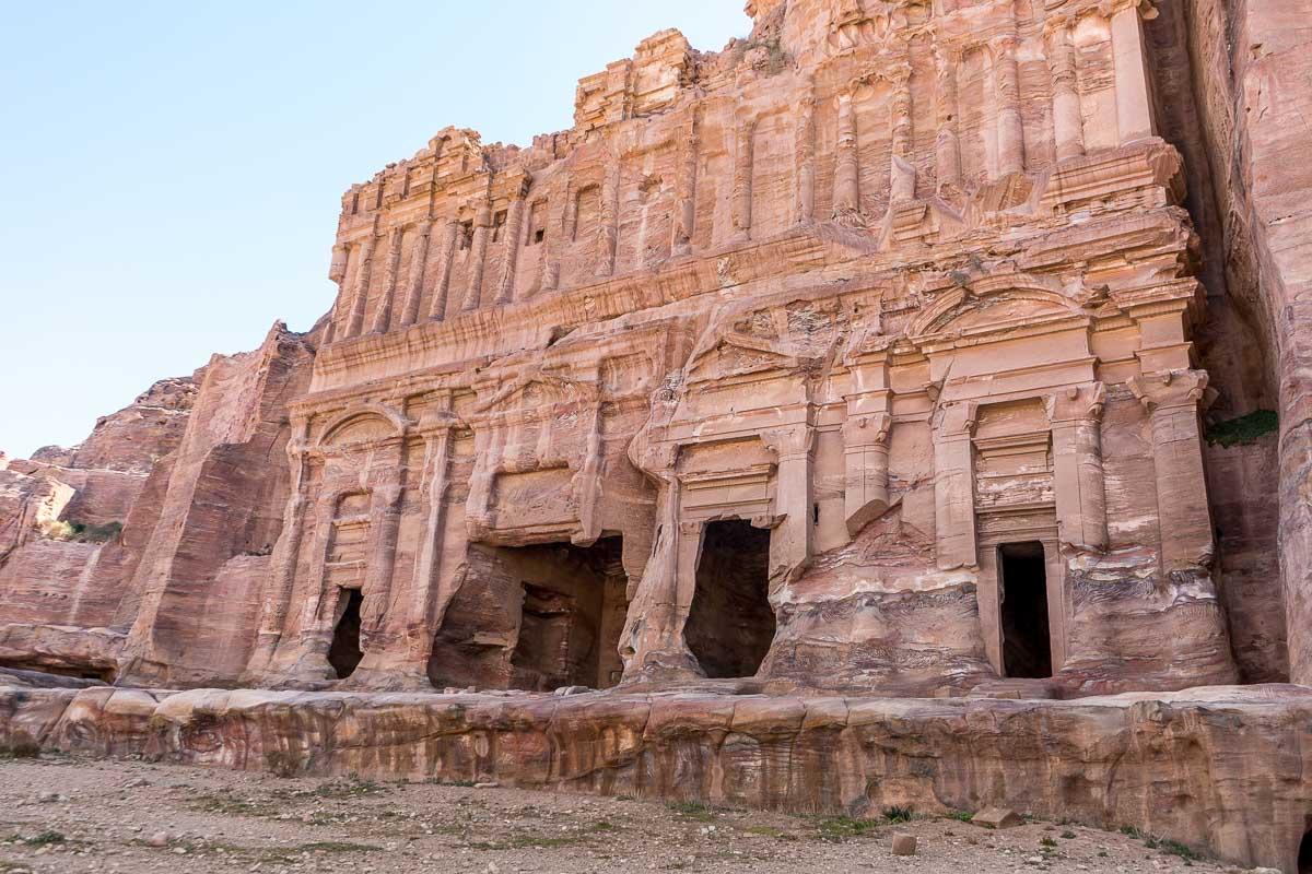 Nabatean ruins in Petra, Jordan