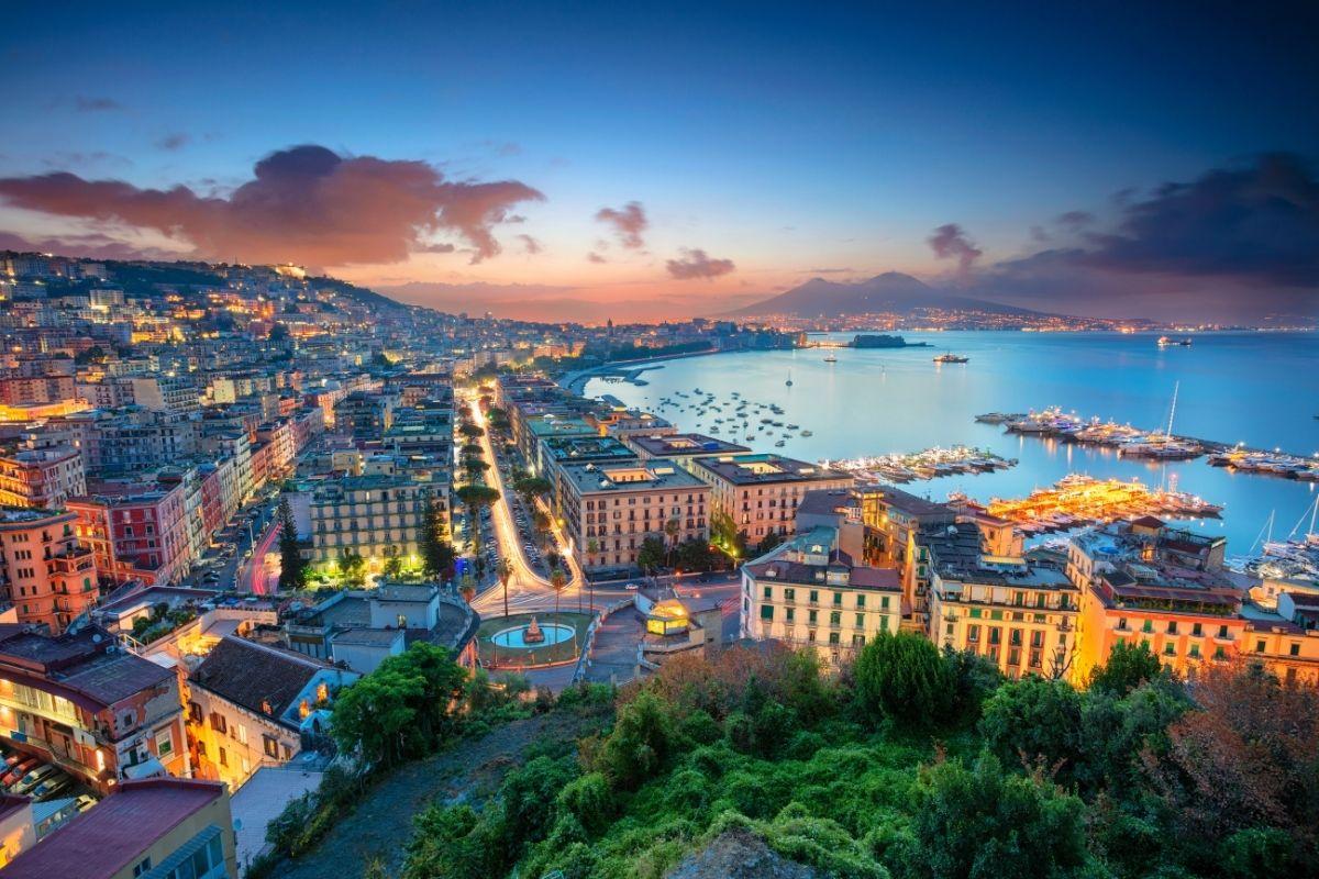 Sunrise in Naples, Italy