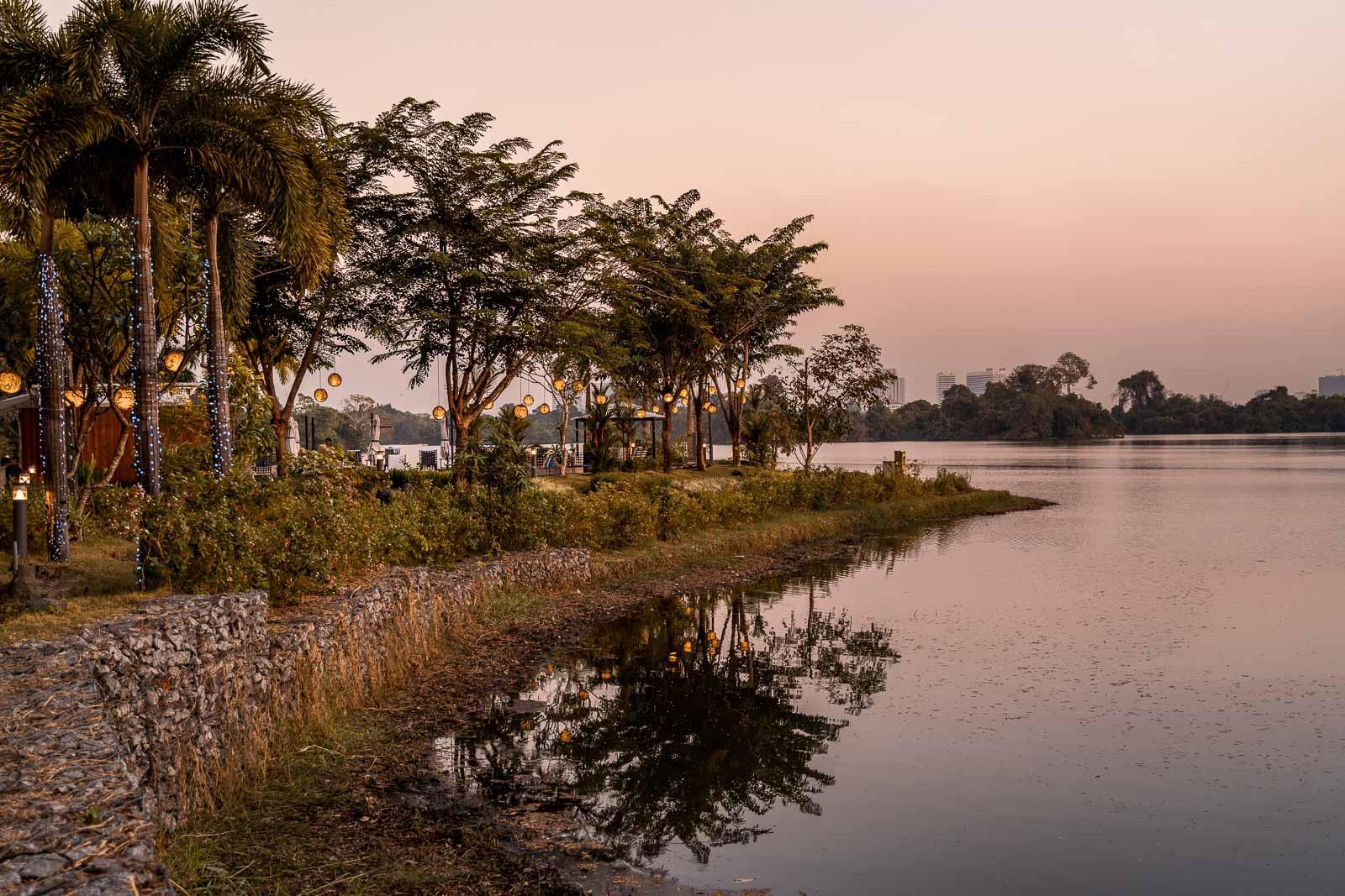 Sunset at the Lotte Hotel Yangon 2