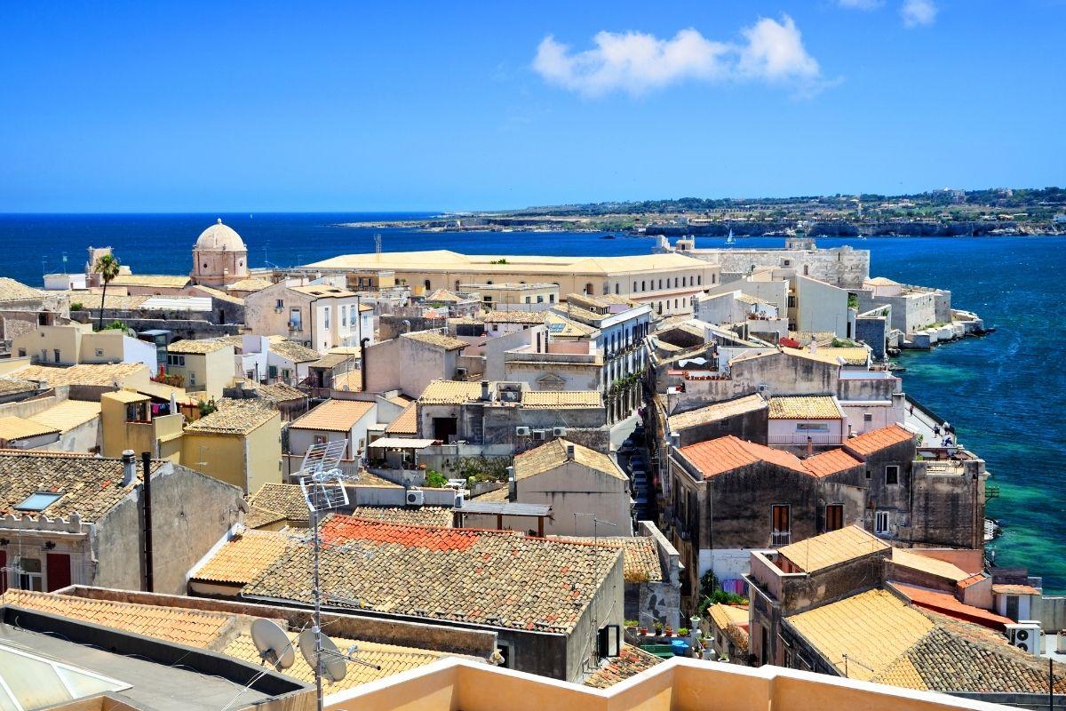Panoramic view of Syracuse, Sicily