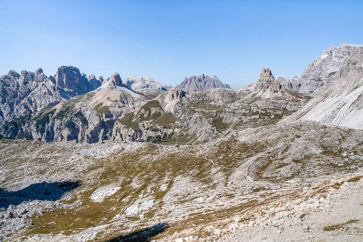 View from Forcella Lavaredo, Dolomites