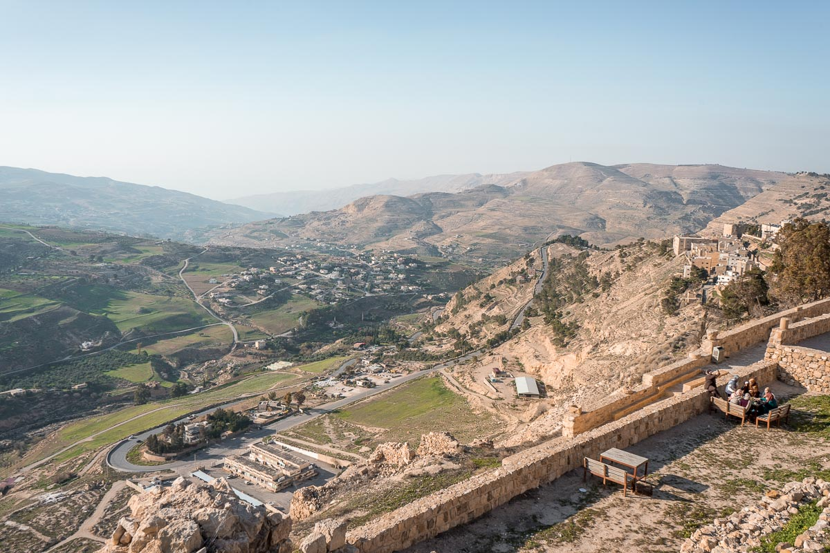 View from the Kerak Castle in Jordan