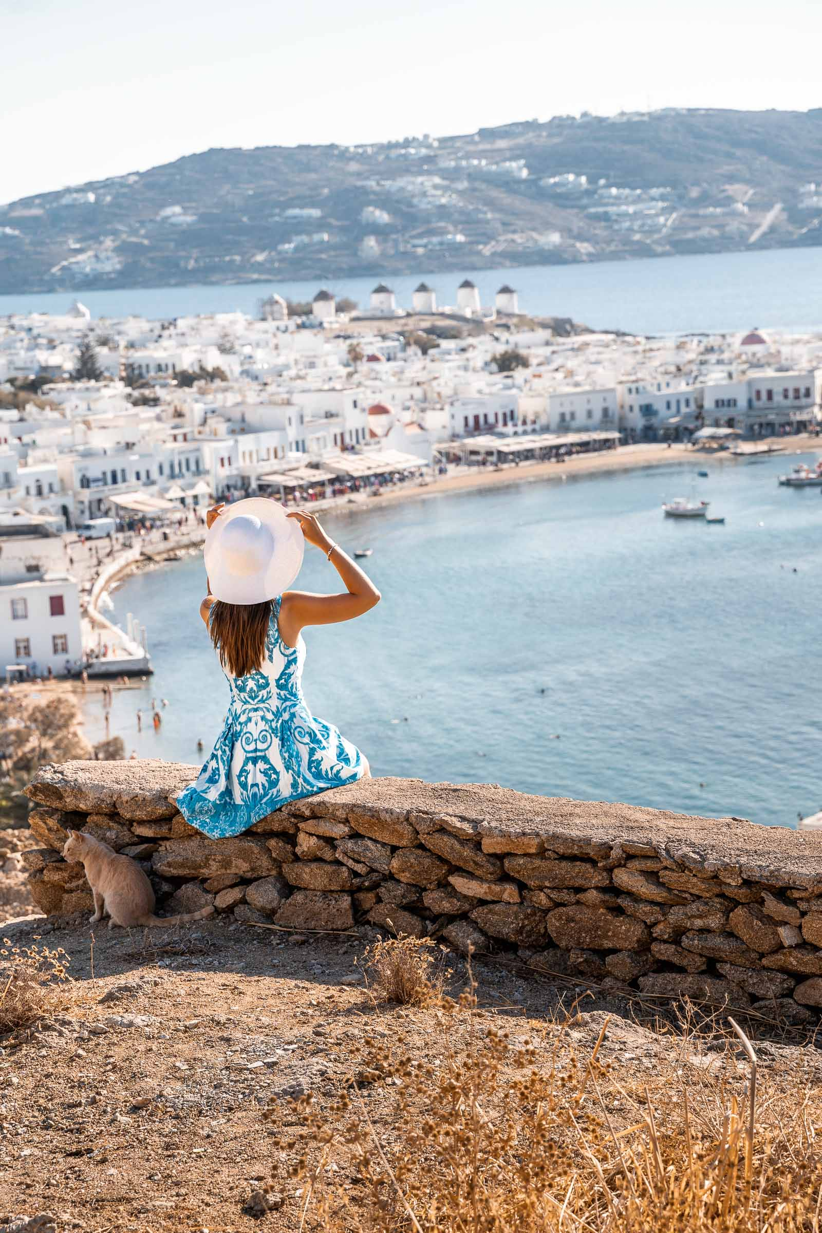 View of Mykonos Town in Greece
