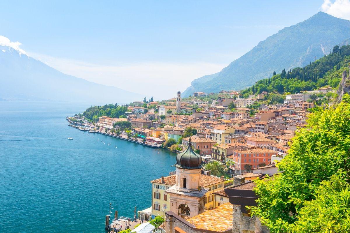 View over Limone sul Garda at Lake Garda, Italy
