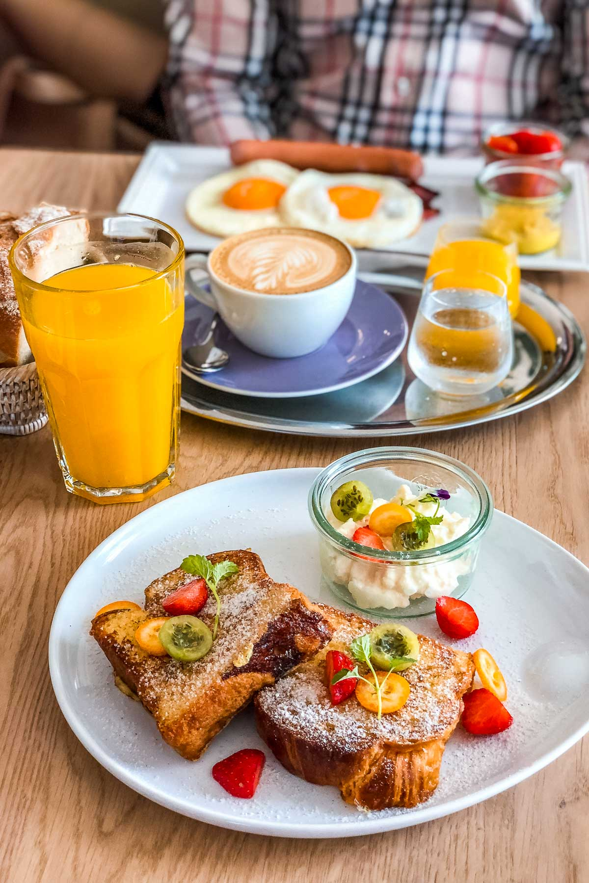 Breakfast at Villa Bagatelle in Budapest, Hungary