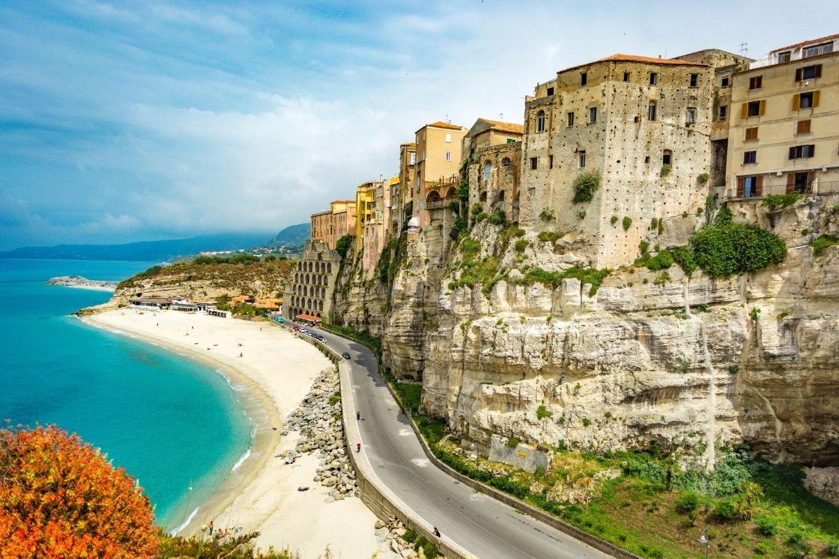 White sandy beaches in Tropea, Italy