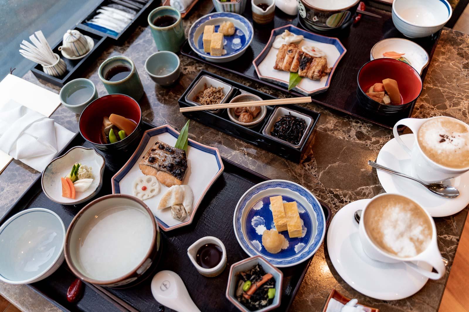 Japanese breakfast at the Yamazato Restaurant in The Okura Prestige Bangkok