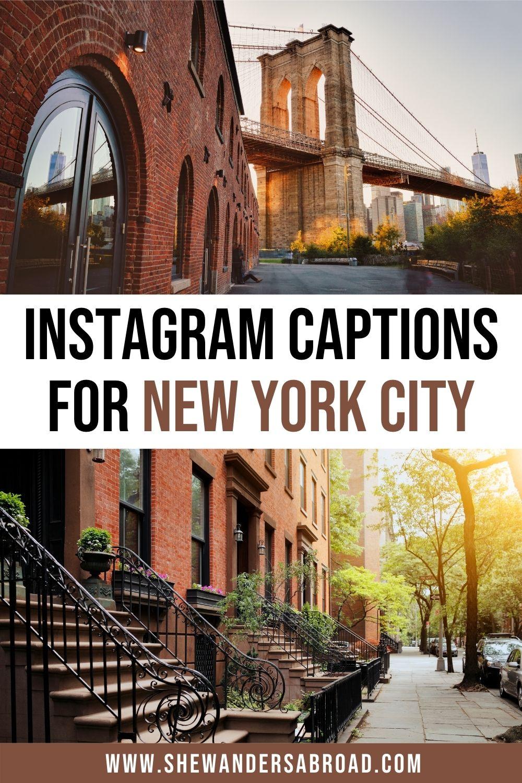 New York Captions for Instagram