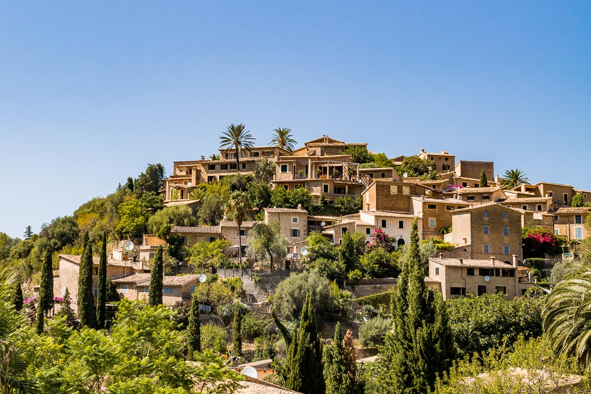 The beautiful hilltop town of Deia is a must stop on every Mallorca road trip itinerary