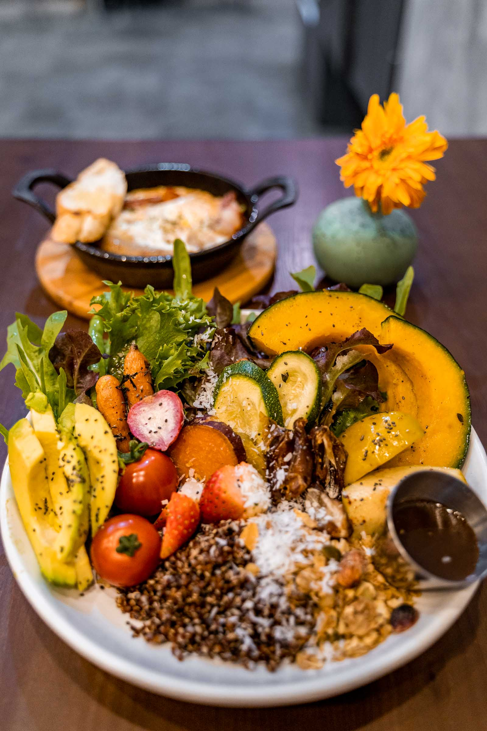 Vegan Buddha bowl for breakfast at Interior at Ember Coffee & Eatery in Chiang Mai