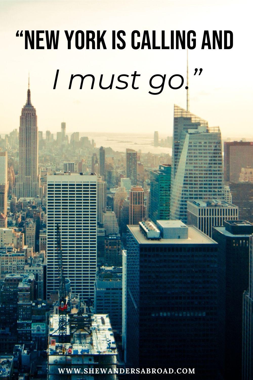 Short New York captions for Instagram