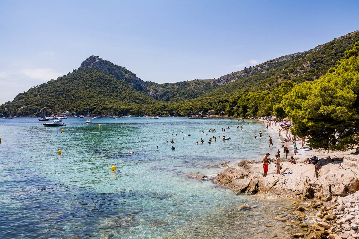 Beautiful beach at Platja de Formentor in Mallorca
