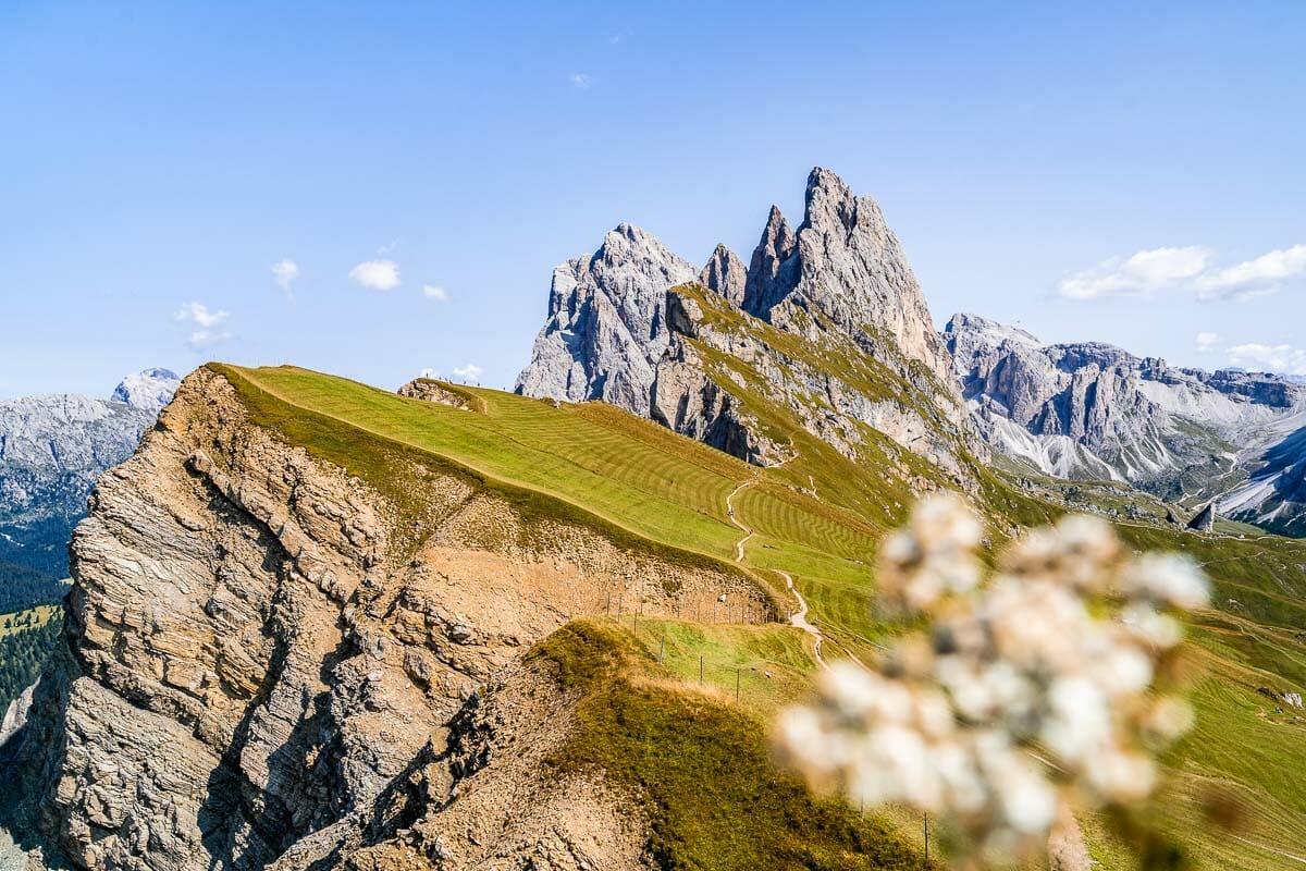 Seceda ridgeline in the Dolomites