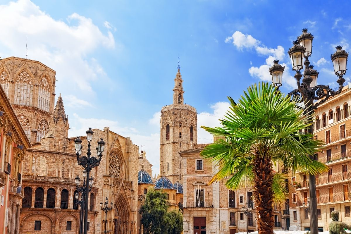 Square of Saint Mary's in Valencia, Spain