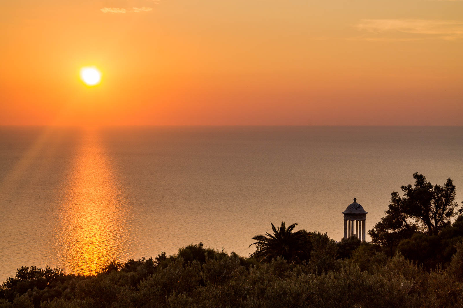 Sunset at Son Marroig in Mallorca