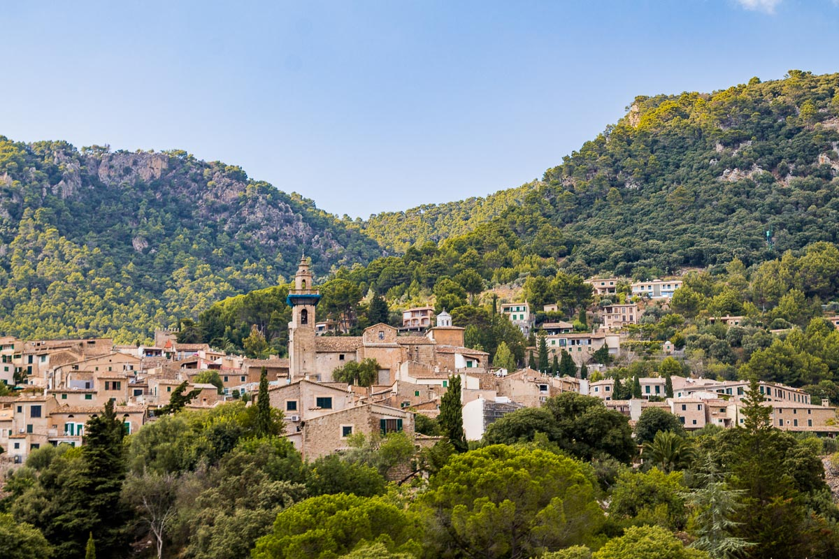 The beautiful town of Valldemossa in Mallorca