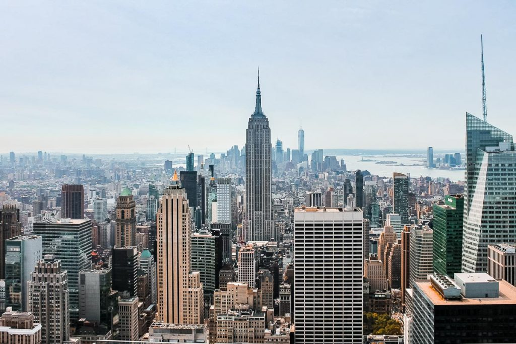 View from Top of the Rock with Empire State Building in the middle